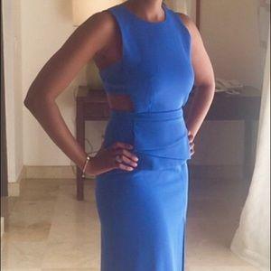 BCBG maxi blue dress
